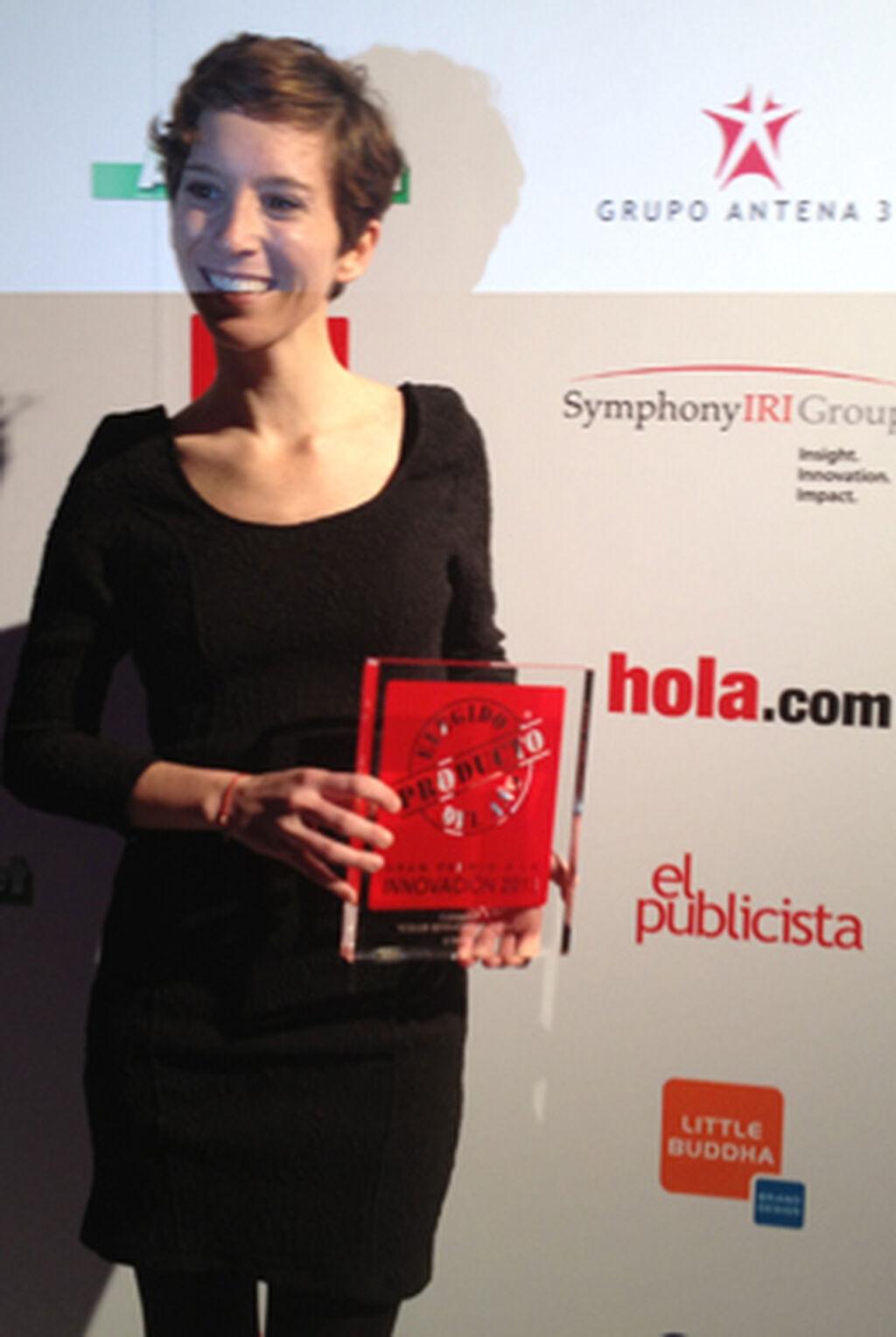 Alejandra Duque, jefe de Producto de Garnier. Premio a Garnier Color Sensation (categoría Coloración)