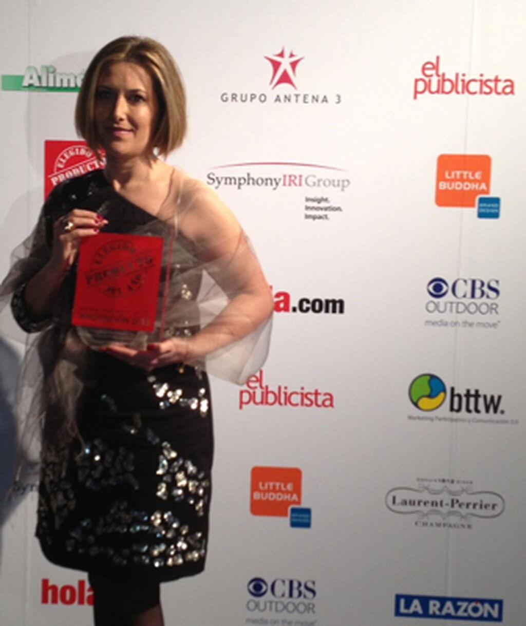 Dori Álvarez, responsable comercial de Grupo Viveplus. Premio a Própolis y Jalea Real + Equinacea Vive+ (Complem. Alimenticios)