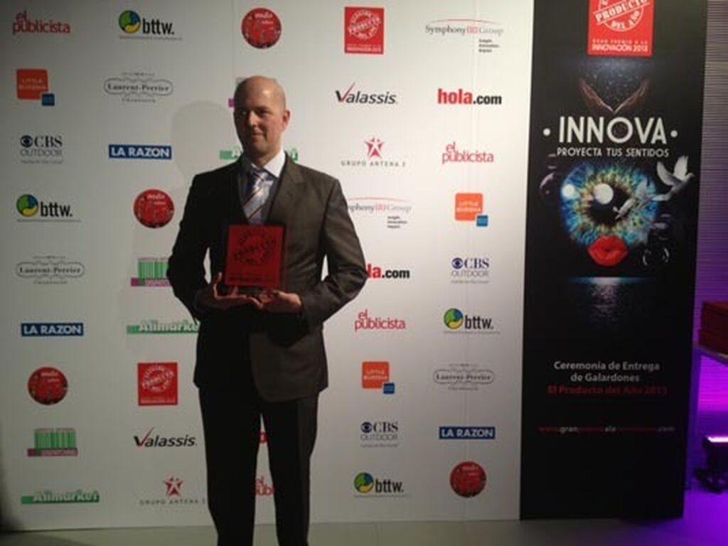 David Botaya, gerente de Aves Nobles y Derivados. Premio a Pechuga de Pollo Casa Matachín (Conservas)