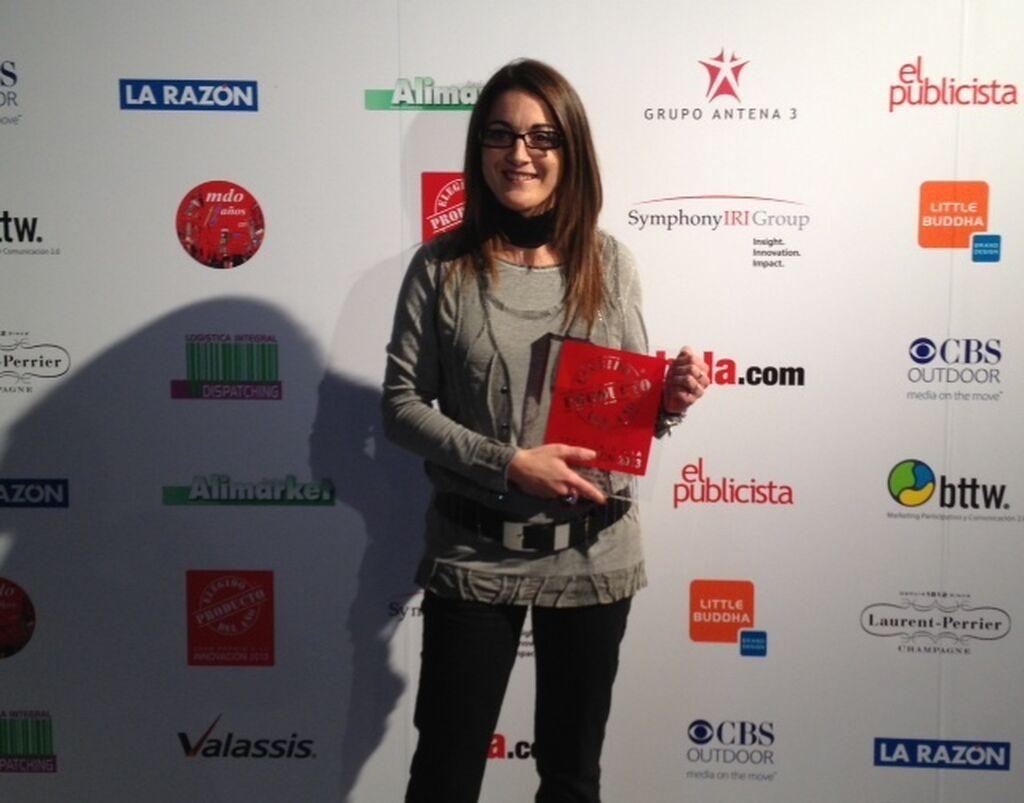 Lidia Casadesús, responsable de Marketing de Grupo Maheso. Premio Pop Nuggets (Congelados)