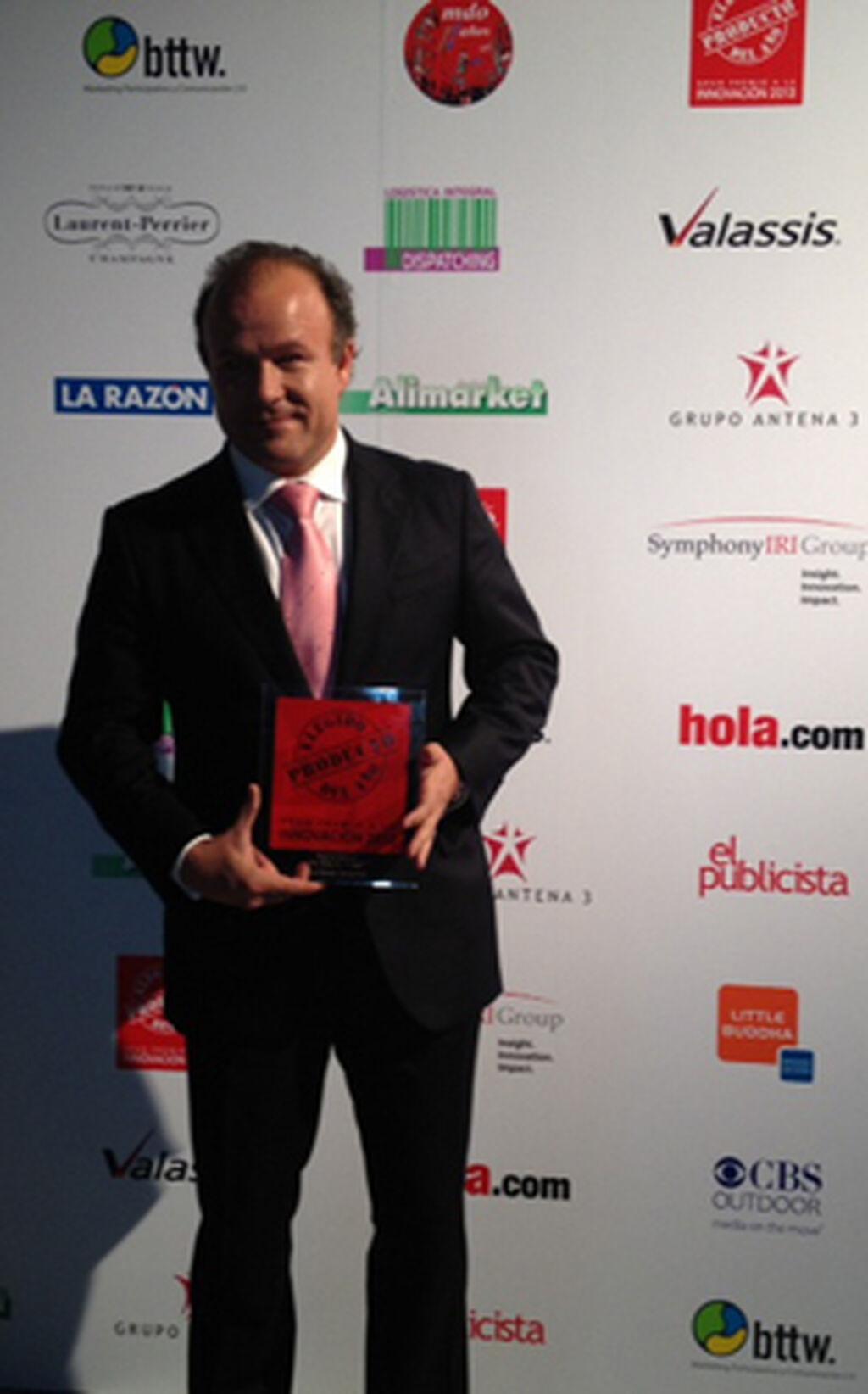 Ernesto Manrique, director general de Valor Brands Europe. Premio a Biobaby by Moltex (Higiene Infantil)