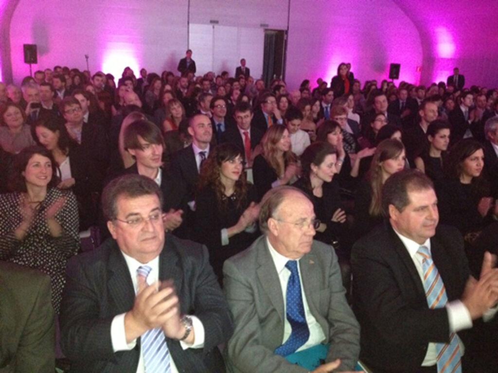Imagen del público que abarrotaba el acto de entrega de premios 2013 celebrado por vez primera en Madrid.