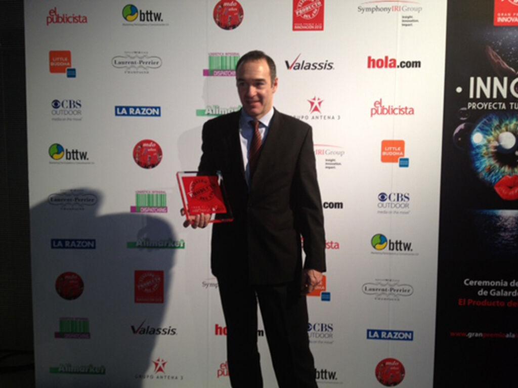 Joaquín Vilalta, director comercial de Expafruit, recogió el premio en Postres por Naturfruit