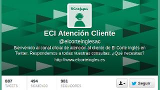 El Corte Inglés refuerza la atención al cliente a través de Twitter