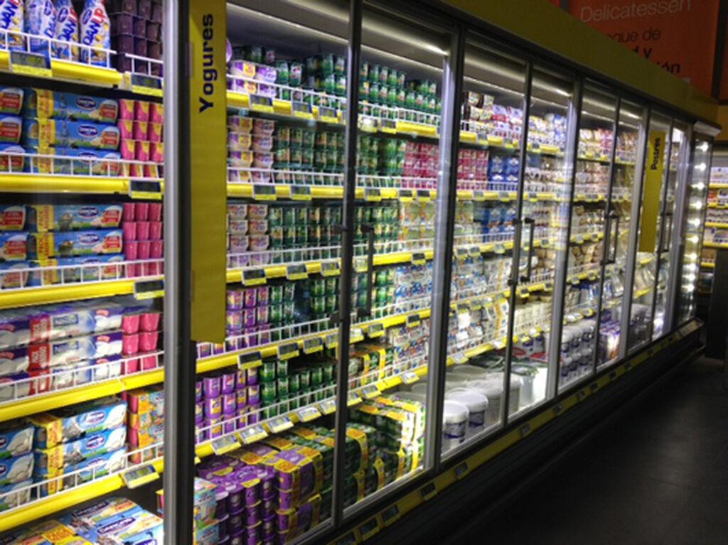 Expositor de yogures