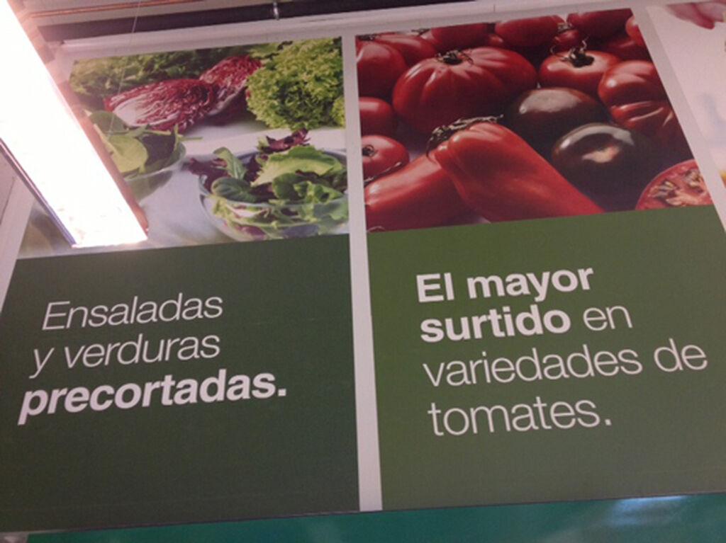 Uno de los carteles informativos que refuerzan la comunicación con los compradores