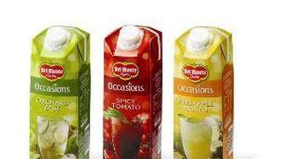 Del Monte presenta su nueva línea de zumos Occasions