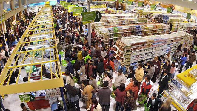 El mercado de gran consumo incrementó su facturación el 1,8%