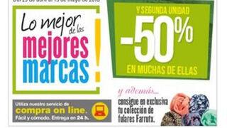 Supermercado El Corte Inglés, con descuentos de hasta el 50%