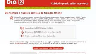 Dia amplía su servicio online a nueve municipios de Madrid