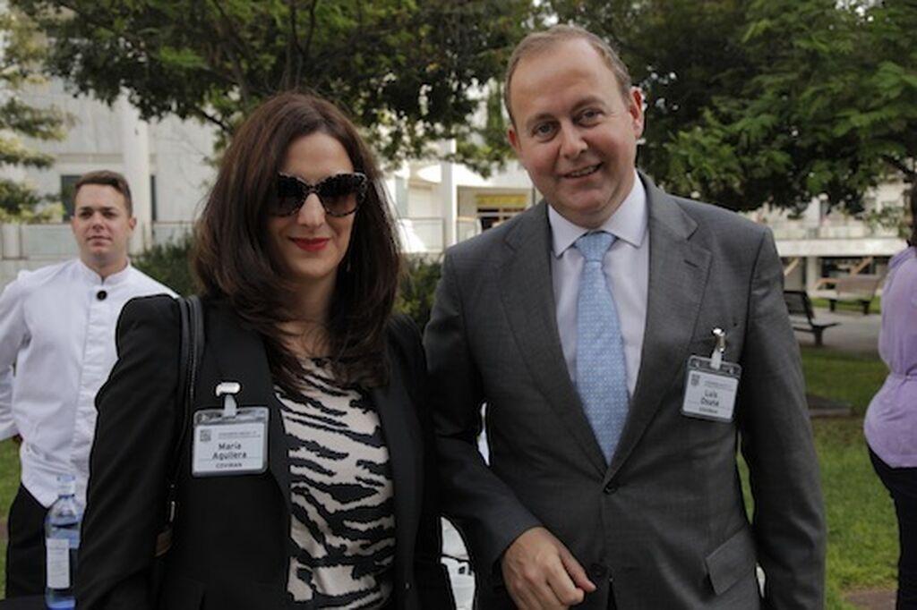 Covirán no podía faltar. María Aguilera (Marketing y Ventas) y Luis Osuna, consejero delegado
