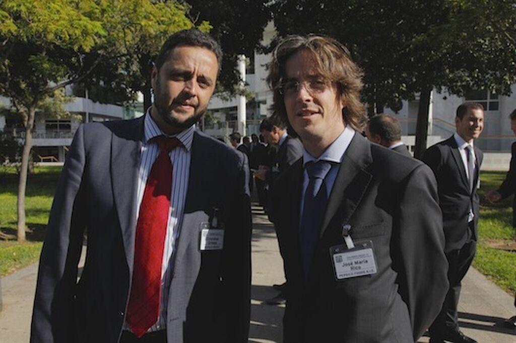 Cristóbal Ortega, director de Cuentas Nacionales de Pepsico Iberia, y José María Rico, director Nacional Ventas de Pepsico Foods