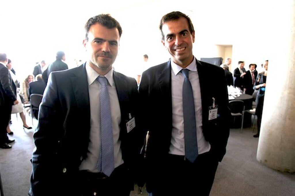 No podía faltar Europastry. Daniel Calvo y Jordi Gallés, presidente