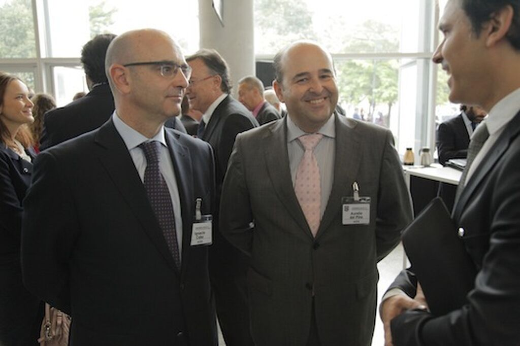 Ignacio Cobo y Aurelio del Pino, presidente y director general de Aces (supermercados), con Carlos Azofra (GranConsumo.tv)