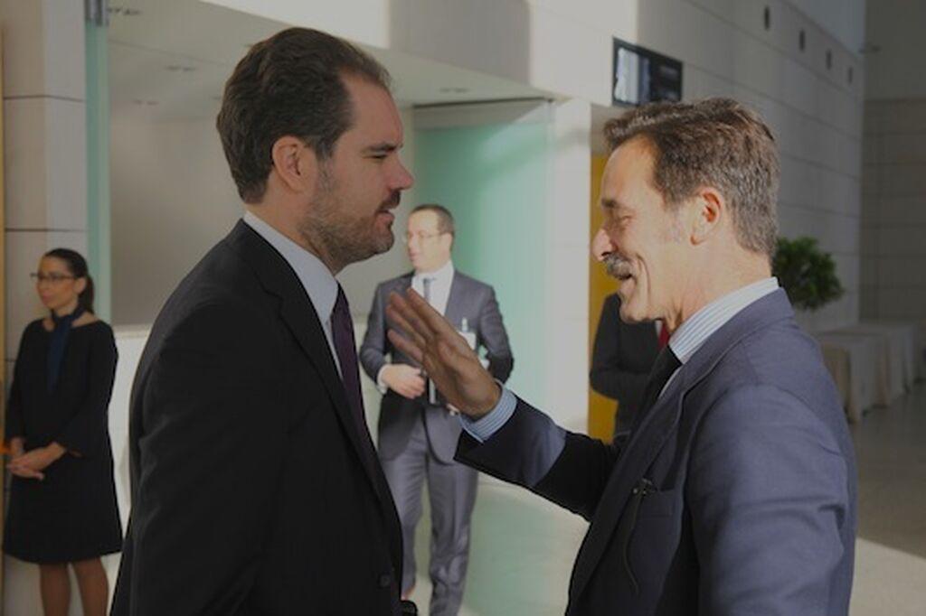 Ricard Cabedo, director de Relaciones Empresariales de Mercadona, con Horacio González Alemán, director general de Fiab