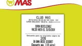 Supermercados Mas lanza sus cupones de descuento reutilizables