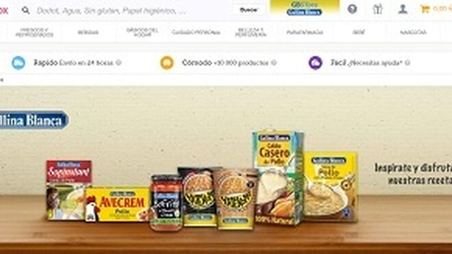 Ulabox desarrolla un economato online para Gallina Blanca