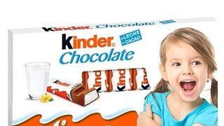Un Kinder chocolate con tu cara en el envoltorio