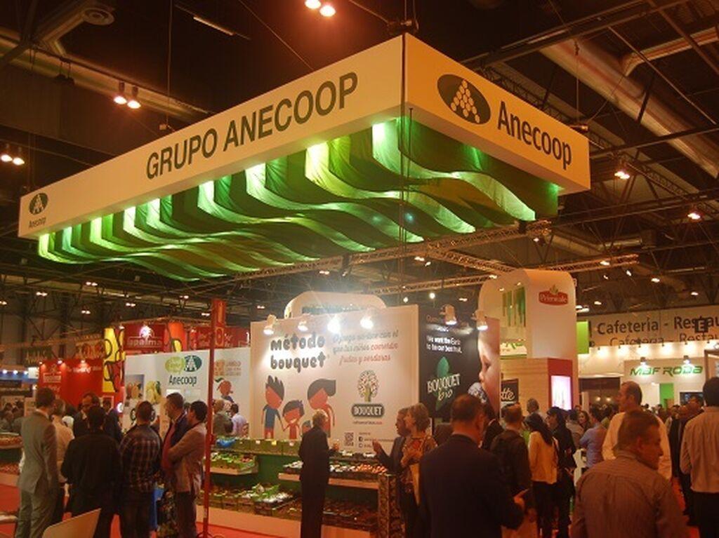 Stand de Anecoop, una de las grandes cooperativas mediterráneas