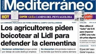 Los agricultores de Castellón piden boicotear a Lidl por las clementinas