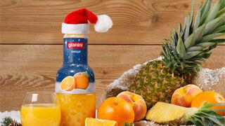 Granini viste de Navidad sus tres sabores estrella