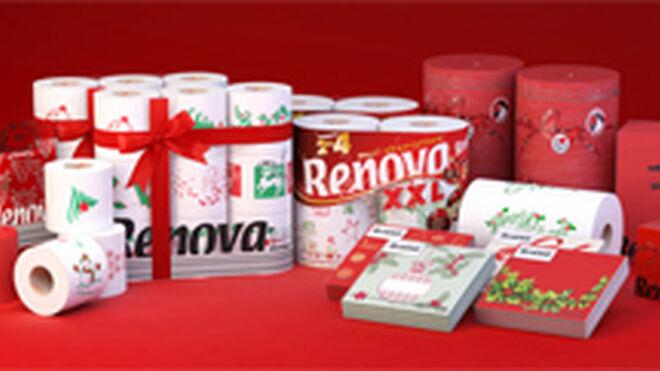 Renova viste de Navidad servilletas, pañuelos y papel higiénico