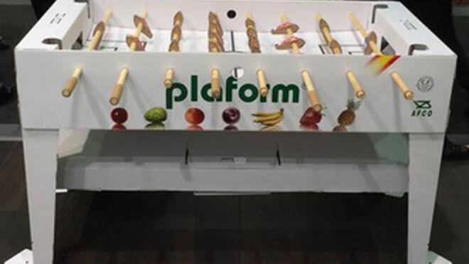 El futbolín de Plaform triunfa en Fruit Logistica 2015
