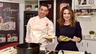 Carme Chaparro presenta la nueva gama de verduras al vapor de Findus