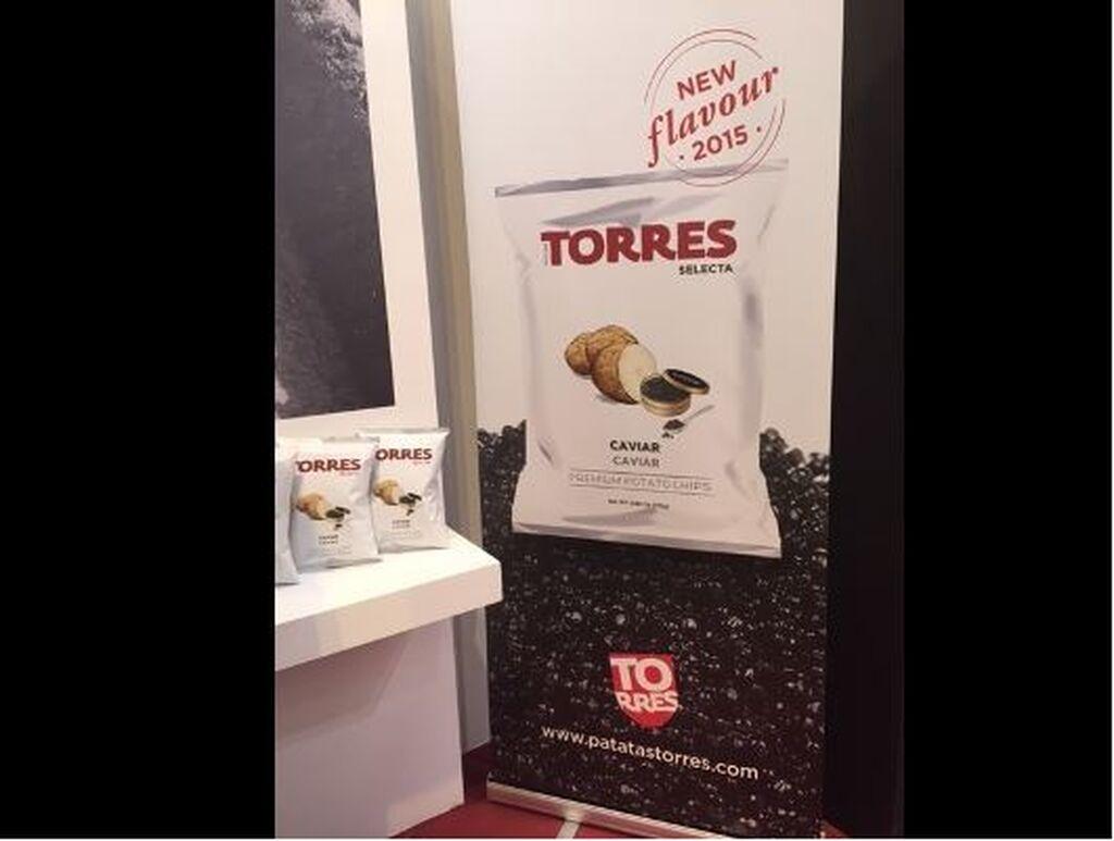 Patatas Torres lanza su nuevo producto Patatas al Caviar