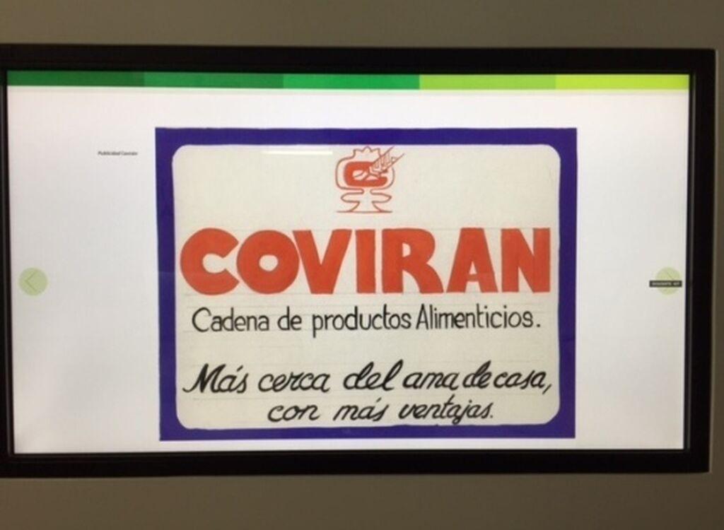 Uno de los primeros carteles publicitarios de la compañía