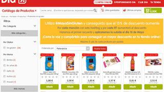 Dia online abarata sus productos para celíacos durante mayo