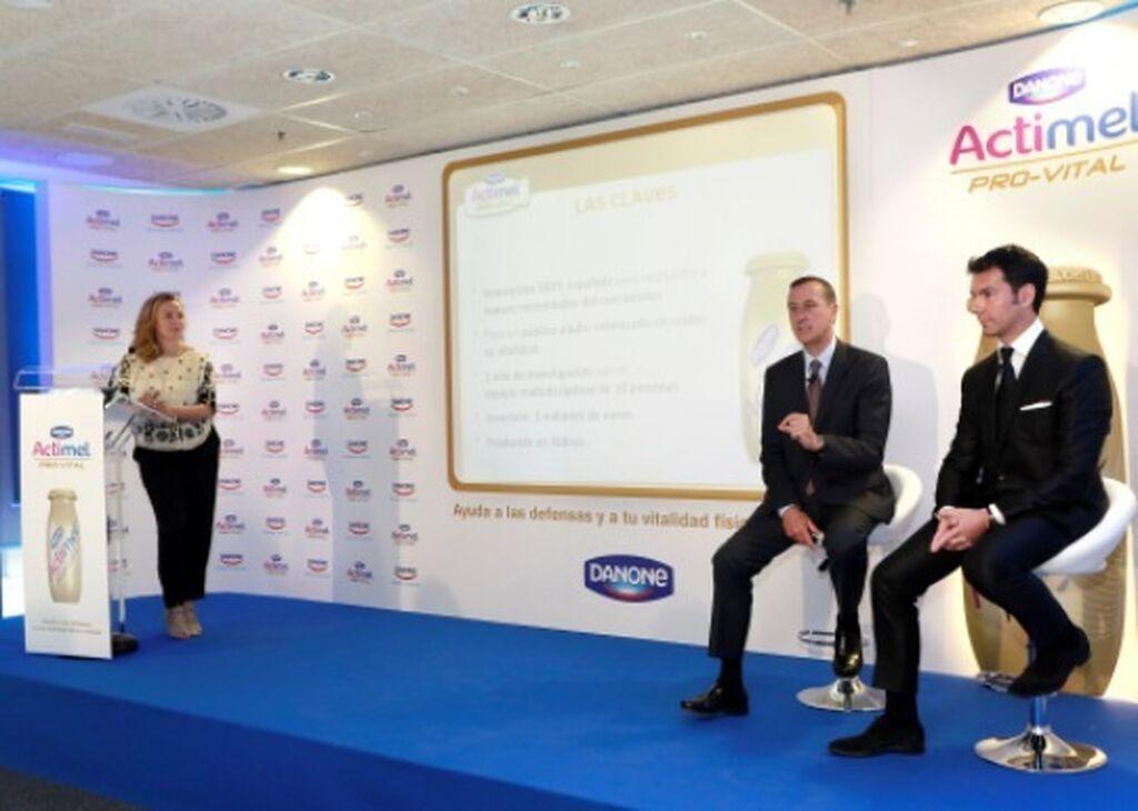 Acto de presentación del nuevo Actimel Pro-Vital de Danone