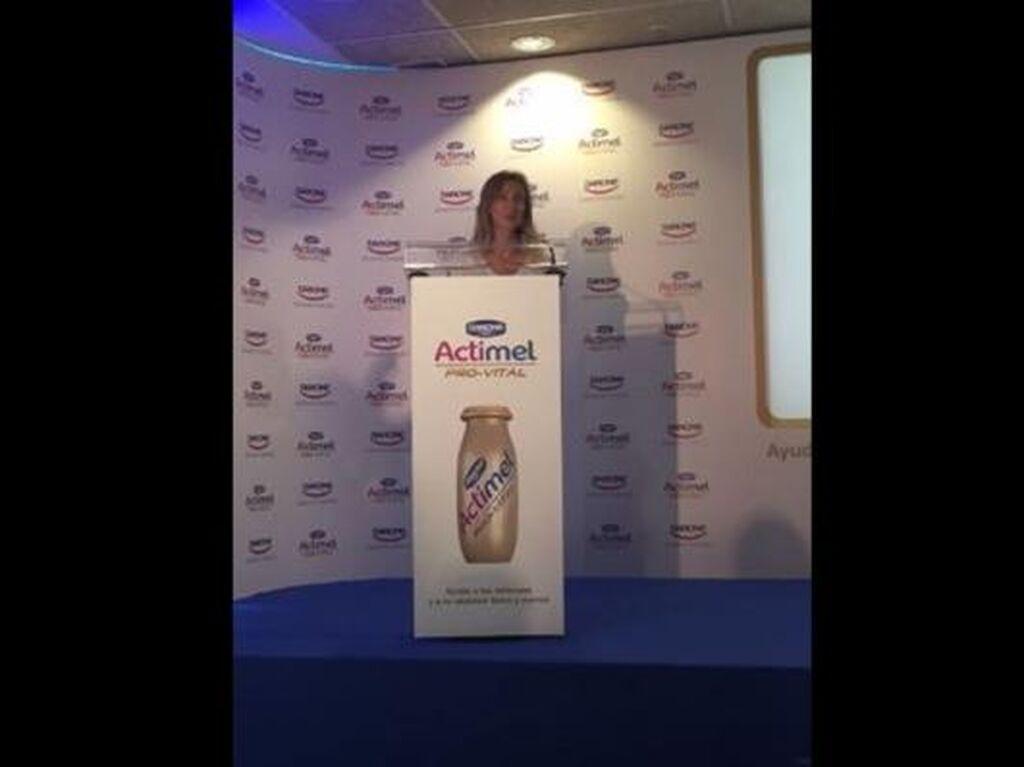 Natalia Berenguer, directora de Corporate y Public Affairs de Danone, durante la presentación de Actimel Pro-Vital
