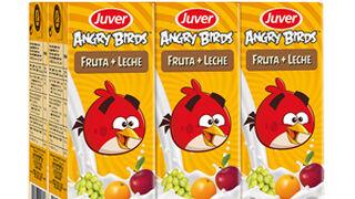 Juver amplía su gama de bebidas 'Angry Birds'