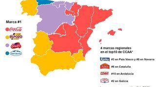 Siete de las diez marcas más escogidas en España son nacionales