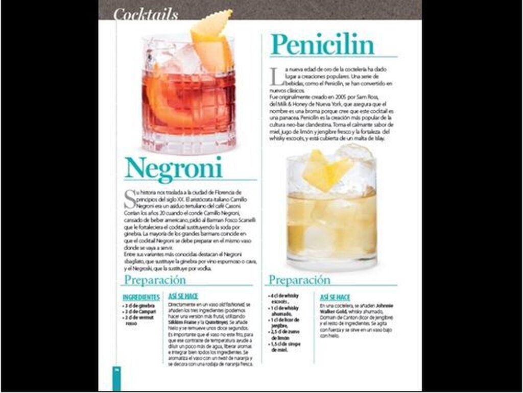 La obra historia de los cocktails clásicos, así como sus ingredientes y modo de preparación