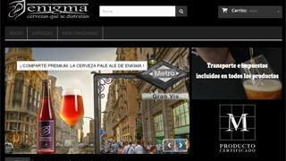 Cervezas Enigma inaugura su tienda online