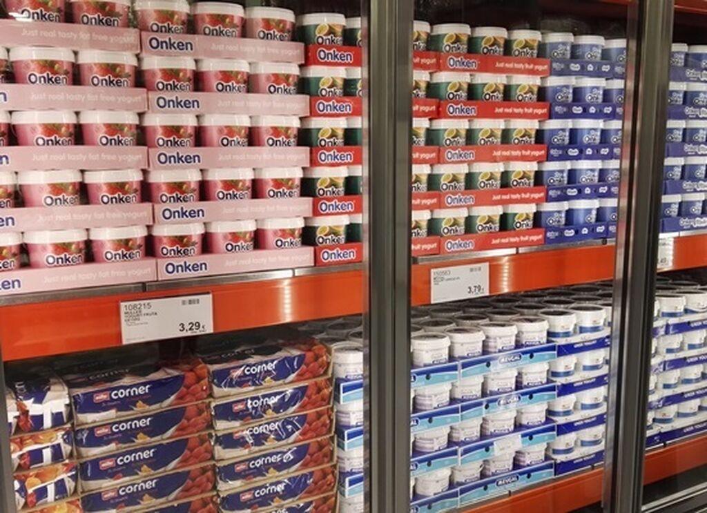 Yogures y derivados lácteos en formato para horeca