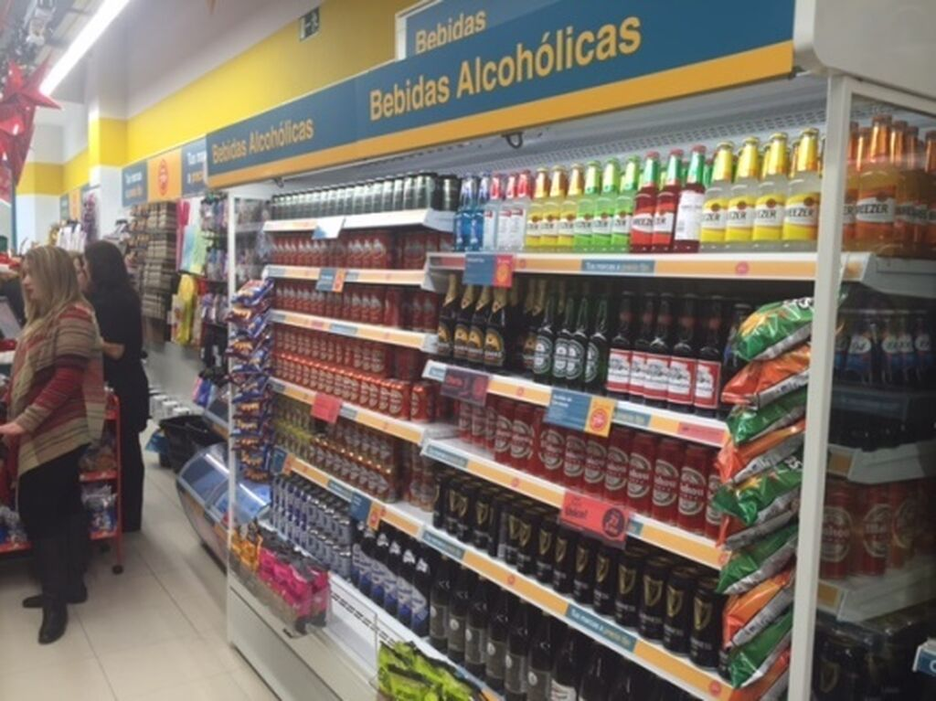 Cámara refrigerada de bebidas alcohólicas