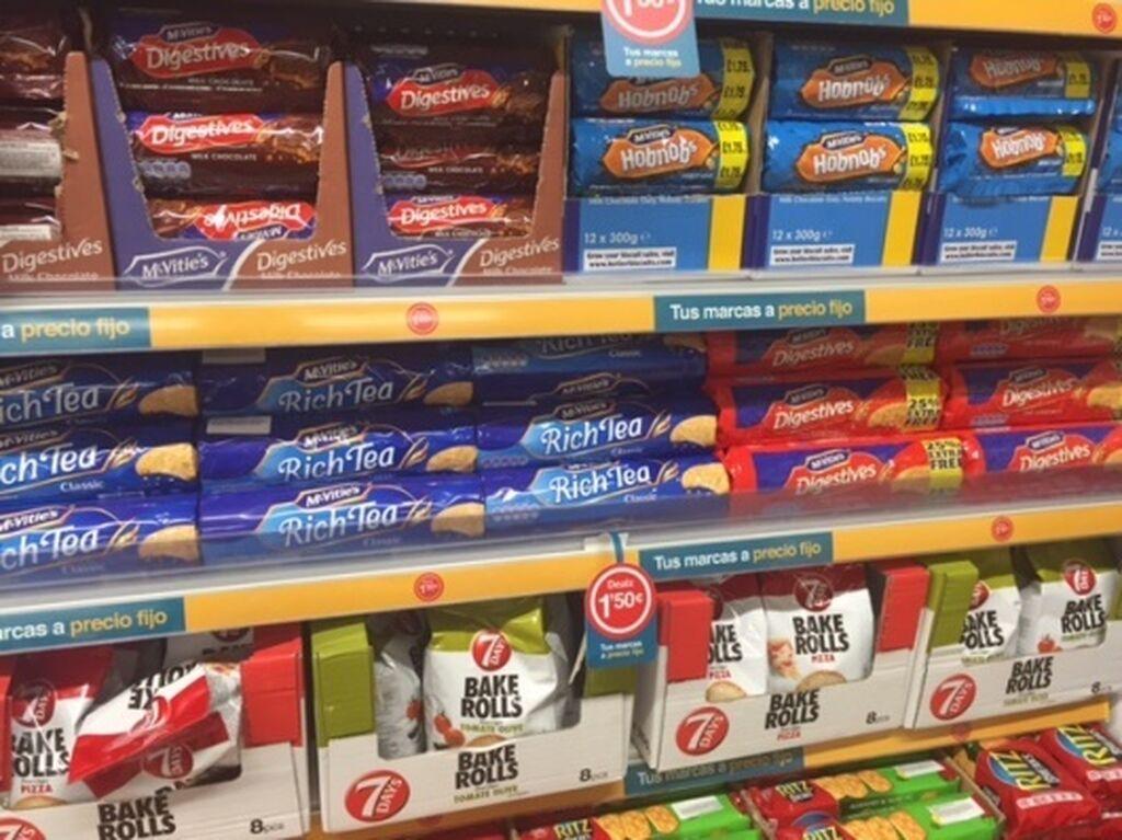 Más galletas, también de marcas inglesas