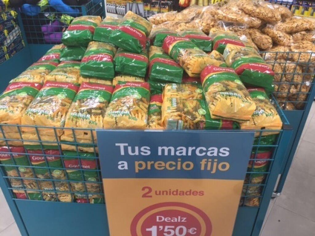 Dos paquetes de pasta por 1,50 euros