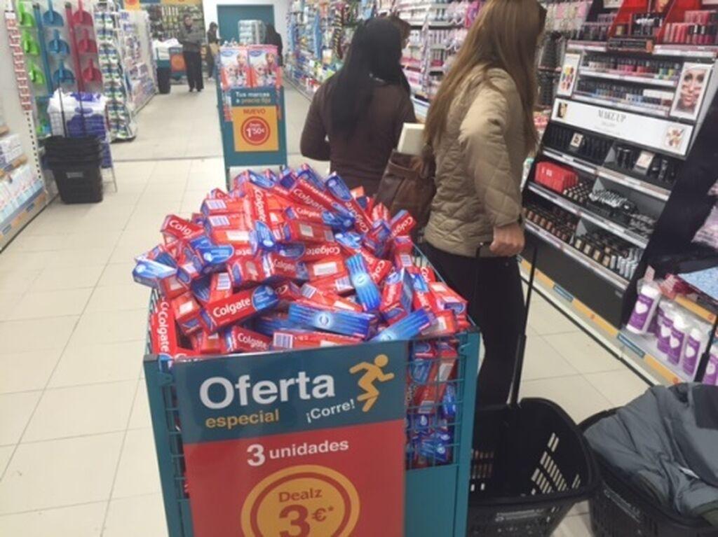 Tres unidades de pasta de dientes por 3 euros