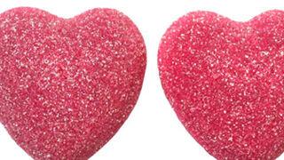Shiny Hearts: los corazones pica de fresa de Vidal Golosinas