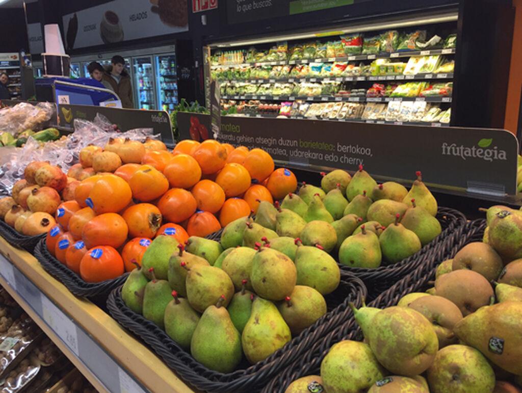 Detalle de la sección de frutería