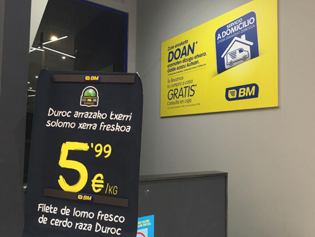 El supermercado cuenta también con servicio a domicilio