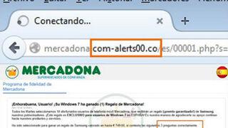 Detectada una web falsa de Mercadona que roba datos