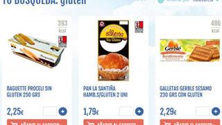 Condis ofrece en su web descuentos en productos sin gluten