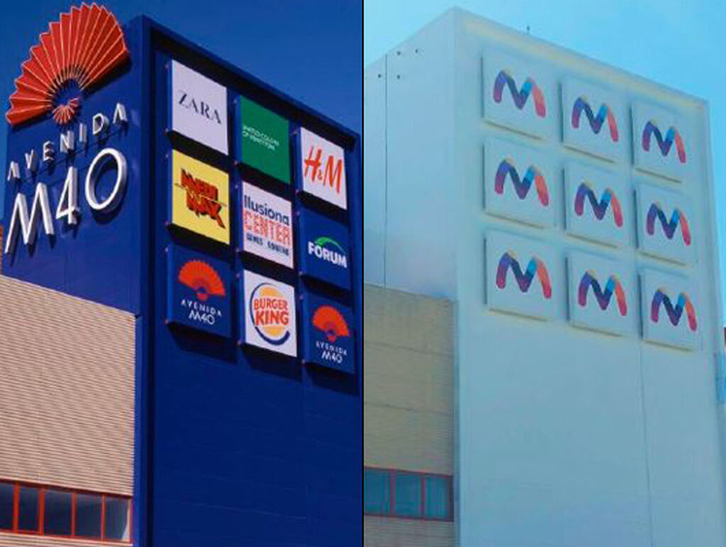 La torre actual del centro comercial, más sencilla y con menos referencias de marcas