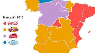 El mapa español de las marcas favoritas de los consumidores