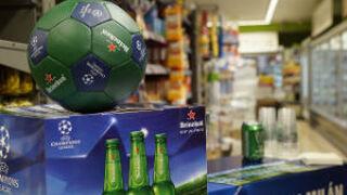 Heineken 'pinta de verde' Madrid con motivo de la Champions